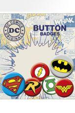 DC Comics Pin Badges 6-Pack Logos