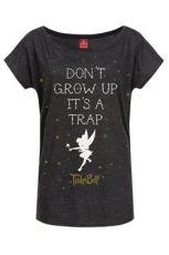 Disney Ladies T-Shirt Don't Grow Up Size S