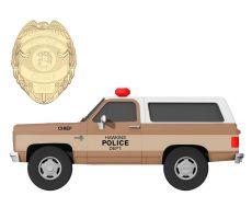 Stranger Things Diecast Model 1/24 Chief Hopper's 1980 Chevy K5 Blazer with Badge