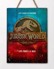 Jurassic World WoodArts 3D Wooden Wall Art Logo 30 x 40 cm