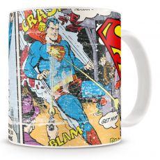 Mug Superman Distressed Comic Strip