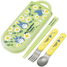 My Neighbor Totoro Chopsticks & Spoon & Fork Set Daisies